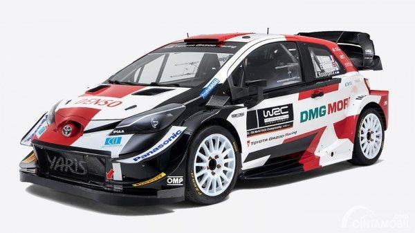 Mobil balap Toyota Yaris WRC untuk musim 2021