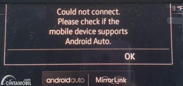 Andorid Auto Connection error