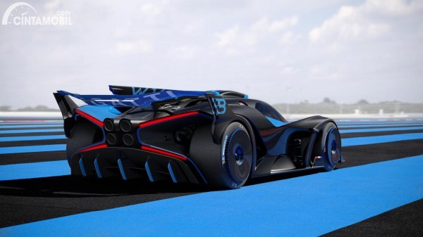 Bugatti Bolide terbaru berwarna biru