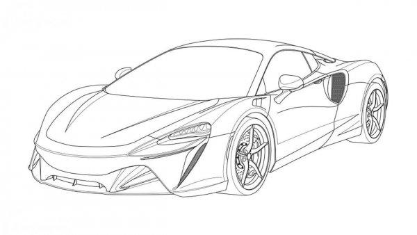 Paten depan Supercar hybrid McLaren Artura