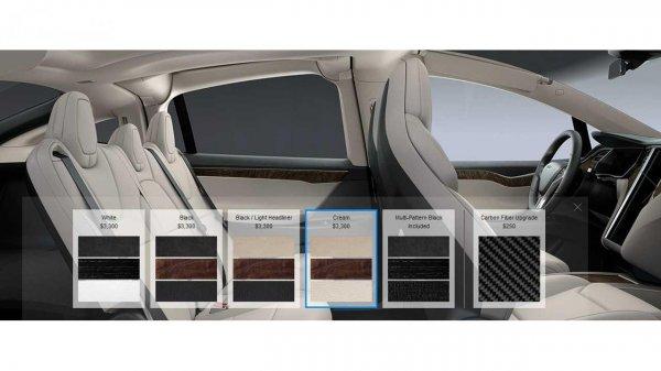 bagian kabin Tesla Model X