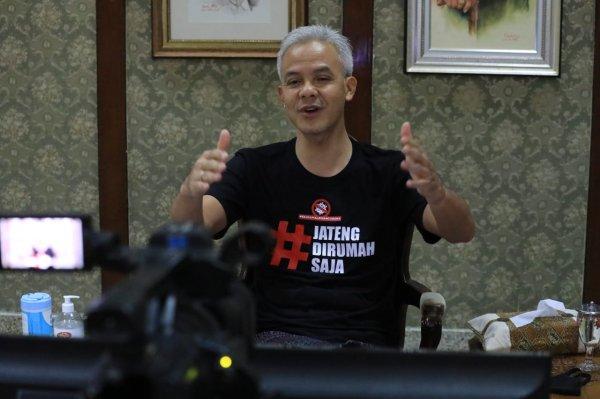 Foto menunjukkan Gubernur Jawa Tengah Ganjar Pranowo