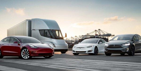 Foto menunjukkan Mobil listrik Tesla