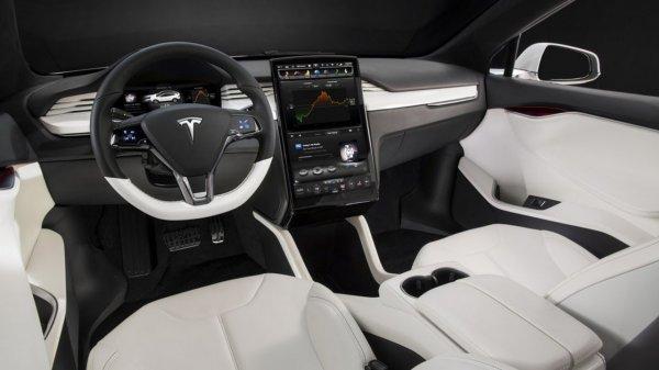 Foto menunjukkan Interior Tesla Model X