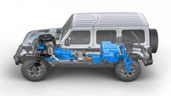 struktur bodi Jeep Wrangler 4xe