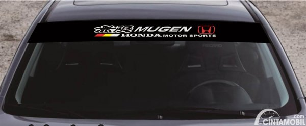 Stiker Kaca Mugen Honda