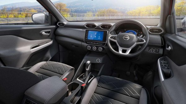 Gambar menunjukan interior Nissan Magnite