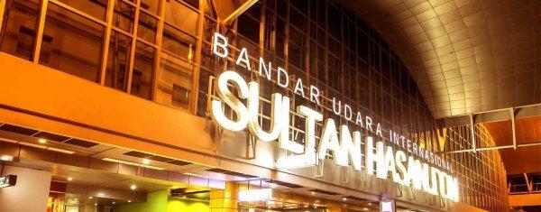 Foto bagian depan Bandara Internasional Sultan Hasanuddin