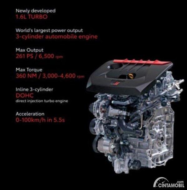 Gambar mesin G16E-GTS Toyota