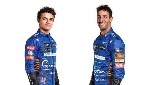 Line-up pembalap McLaren musim 2021, Daniel Ricciardo dan Lando Norris