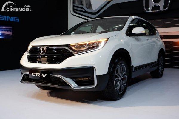 Foto Honda CR-V Turbo Prestige warna putih white orchid pearl 2021