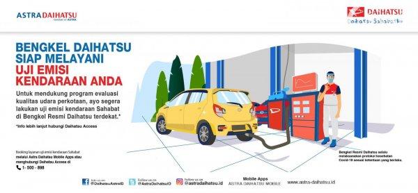 ilustrasi mengenai uji emisi Daihatsu