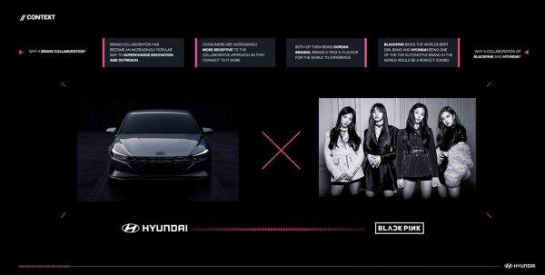 Gambar menunjukan Hyundai dan black pink