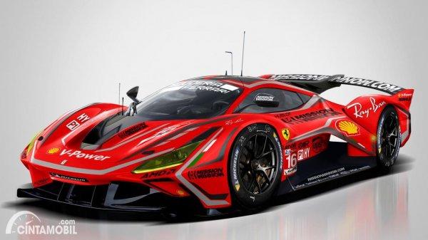 Rendering mobil Ferrari WEC 2021