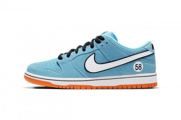 sepatu Porsche x Nike berwarna biru