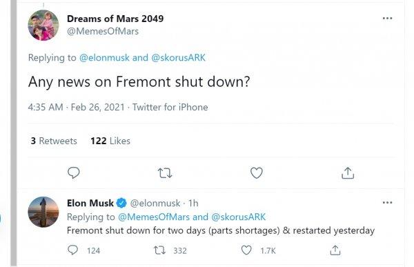 Foto Tweet Elon Musk di akun Twitter