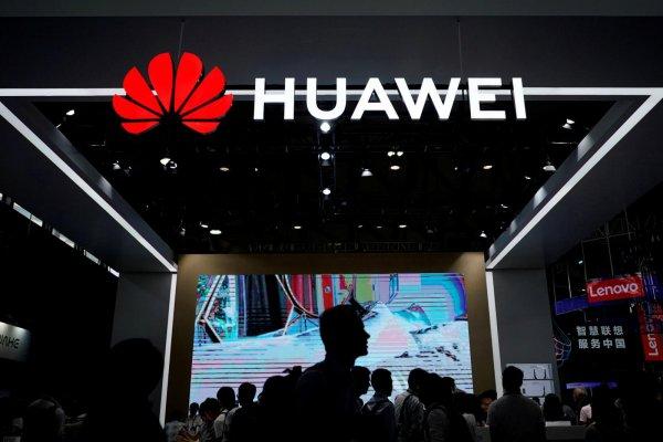 Foto Booth Huawei di sebuah pameran