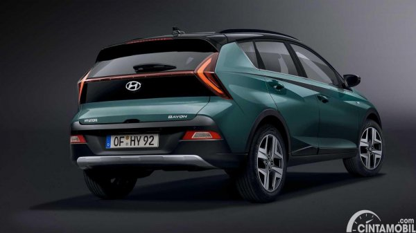 Tampilan belakang Hyundai Bayon 2021