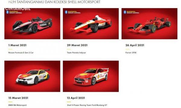 Model Shell Collection Motorsport yang bisa dibeli