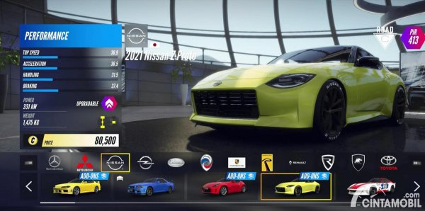 spesifikasi Nissan Z Proto dalam video game Project Cars 3