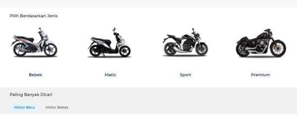 Gambar menunjukan marketpalce Motor bekas dan baru