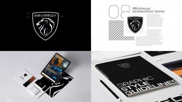 Gambar menunjukan Logo baru peugeot