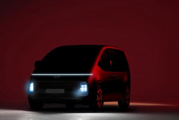 Gambar teaser Hyundai Staria Premium bagian depan