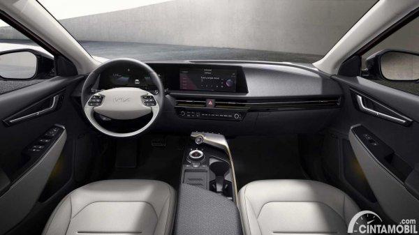 interior Kia EV6 berwarna hitam