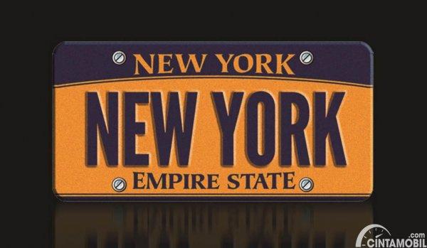 Plat Nomor New York