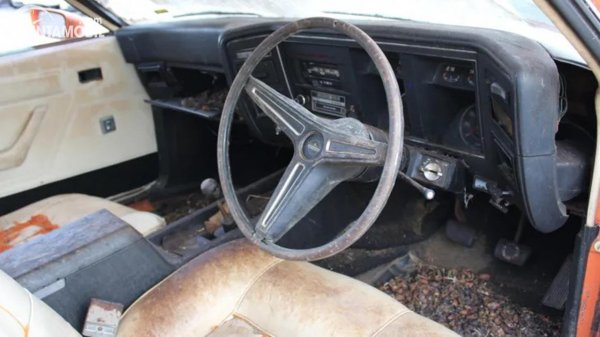 Interior Ford Falcon XA barn find