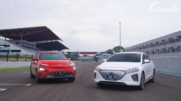 Foto Hyundai KONA EV facelift dan Hyundai IONIQ Prime 2021