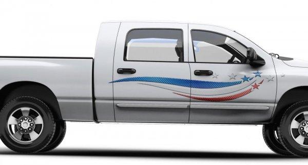 Gambar sebuah mobil pick up telah modifikasi