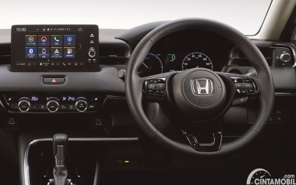 Setir Honda Vezel 2021 berwarna hitam