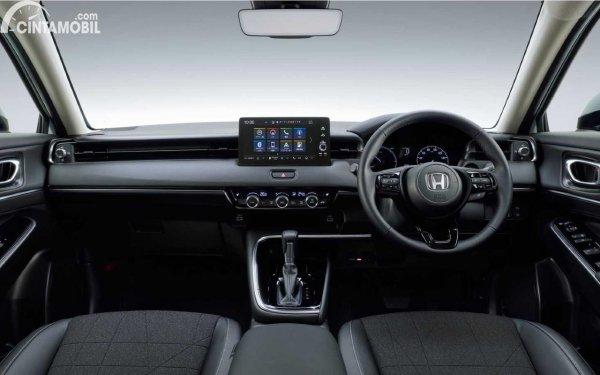 Dashboard Honda Vezel 2021 berwarna hitam