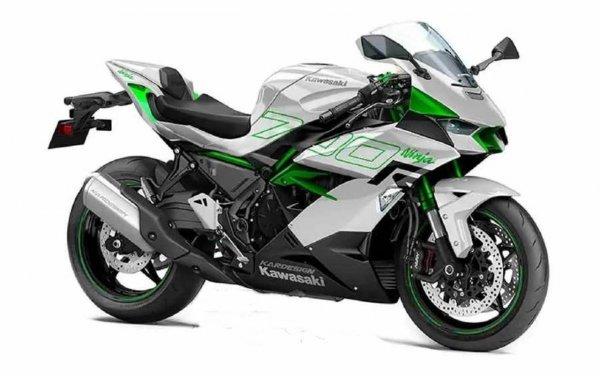 Kawasaki Ninja 700R putih