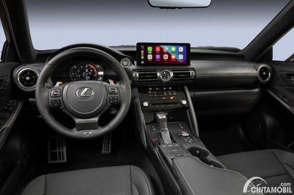 Gambar layout dashboard Lexus IS 500 F Sport Performance 2021