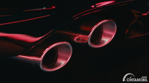 Gambar knalpot Lexus IS 500 F Sport Performance 2021
