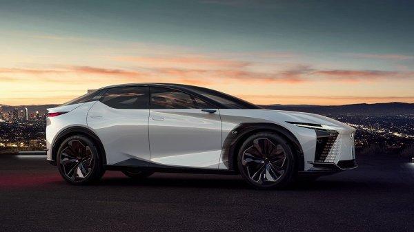 Gambar menunjukan Mobil listrik lexus