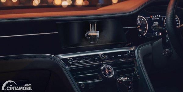 pembuat kopi Bentley pada sistem infotainment Bentley