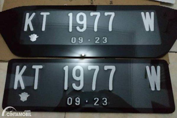 Plat Nomor Mobil KT