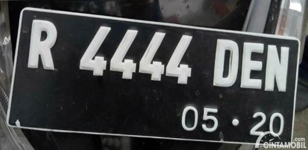 Plat Nomor Cantik