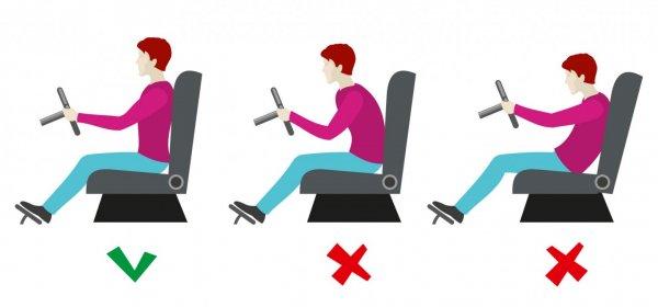 posisi duduk saat mengemudi