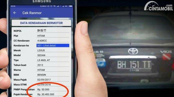 Aplikasi Cek Plat Nomor Kendaraan