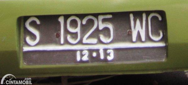 kode plat nomor s