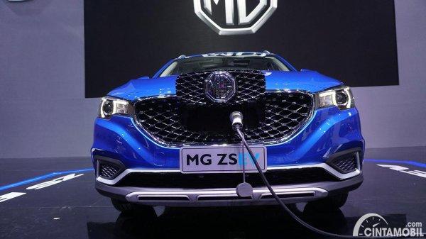 Tampilan depan MG ZS EV