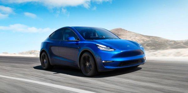Gambar menunjukan Tesla Model Y