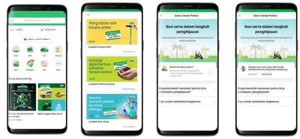 Gambar menunjukan aplikasi Grab