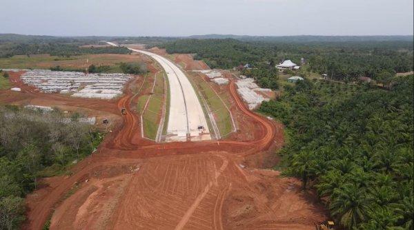 Foto Pembangunan jalan Tol Lubuklinggau-Bengkulu