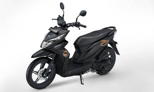 Tampilan Honda BeAT Street hitam