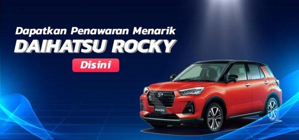 Gambar menunjukkan promo saat membeli mobil Daihatsu Rocky